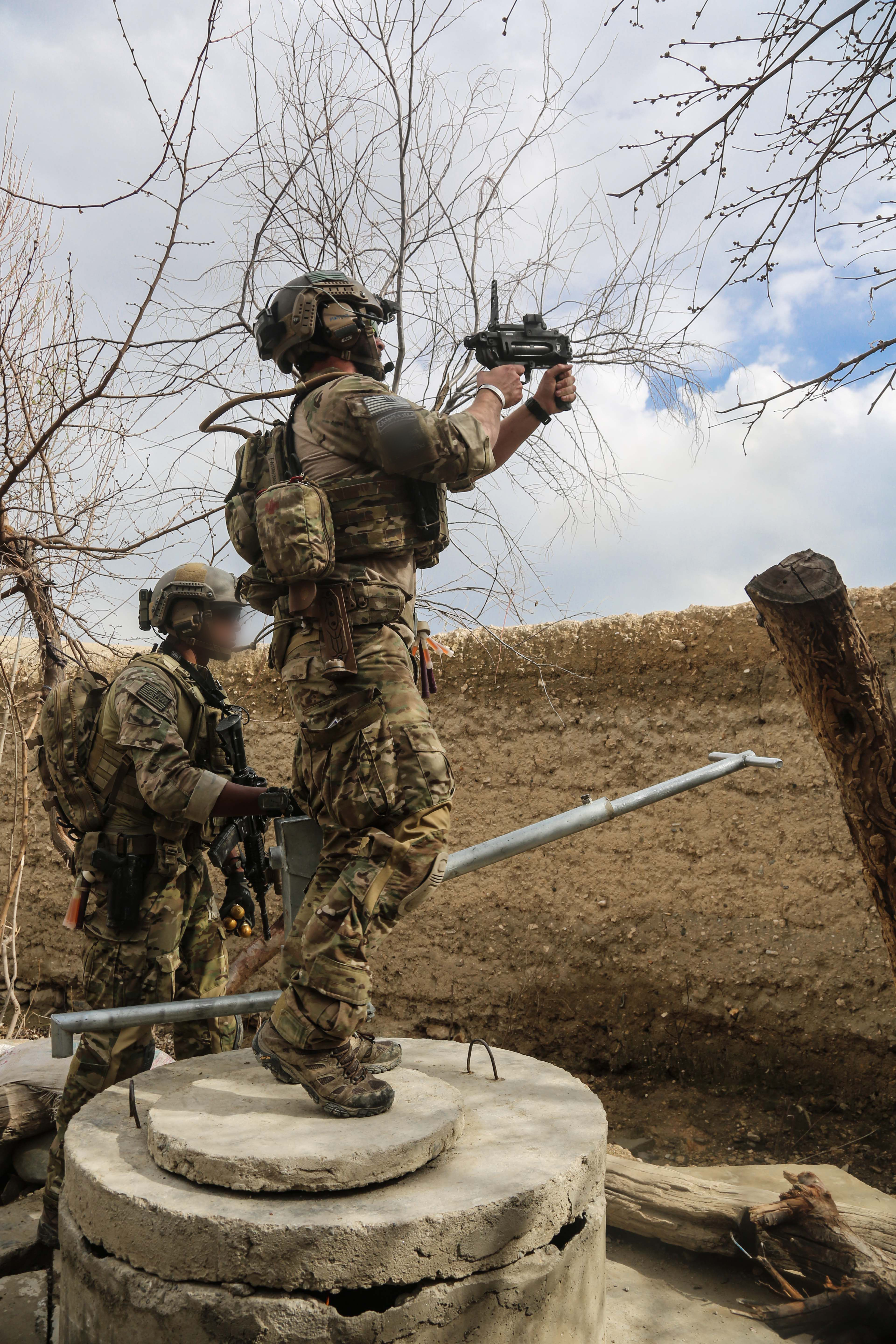 U.S. Special Forces soldiers, attached to Combined Joint Special Operations Task Force-Afghanistan,