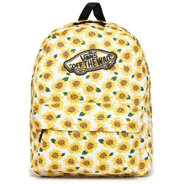 Vans Sunflower Realm Backpack ( 20) ❤ liked on Polyvore featuring bags and  backpacks d9367a227d2c5