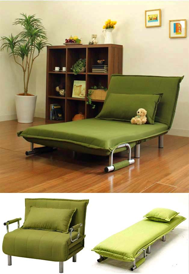 Beau Folding Sofas, Beds And Chaise Lounges For Small Spaces