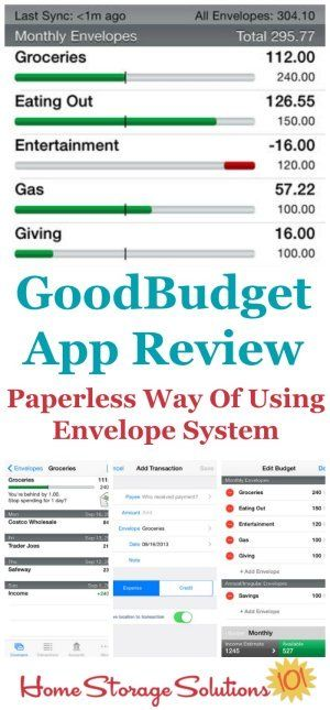 GoodBudget App Reviews Formerly Known As EEBA Envelope system - bi weekly monthly budget spreadsheet
