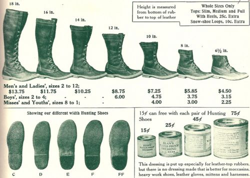 Vintage Ll Bean Boot Size Guide