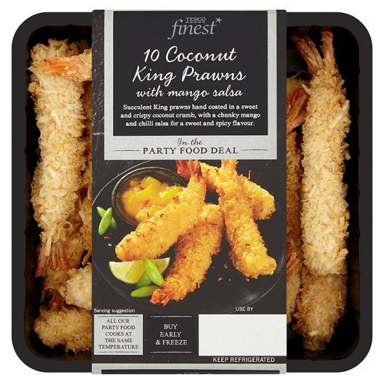 Finest 10 Coconut King Prawns Mango Salsa 260g Tesco