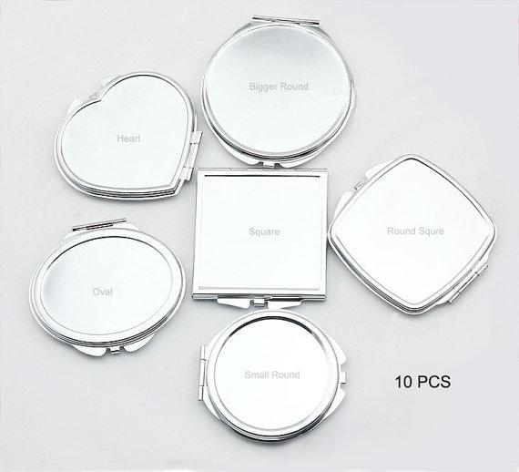 10 Kits Pocket Mirror Blank Compact Mirrors Supply By Diypartner