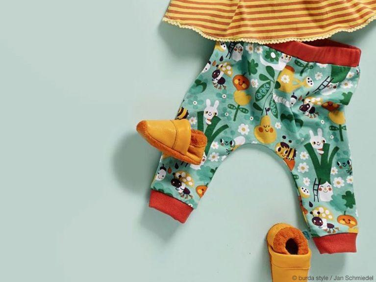 DIY-Anleitung: Niedliche Jersey-Pumphose für Baby nähen via DaWanda ...