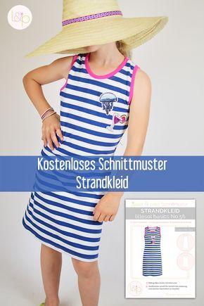 Photo of Kostenloses Schnittmuster Ebook für ein Strandkleid Sommerkleid Tutorial Nähen …