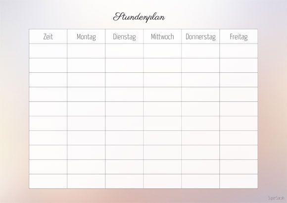 SuperSarah - Stundenplan - träumerisch | Filofax | Pinterest ...