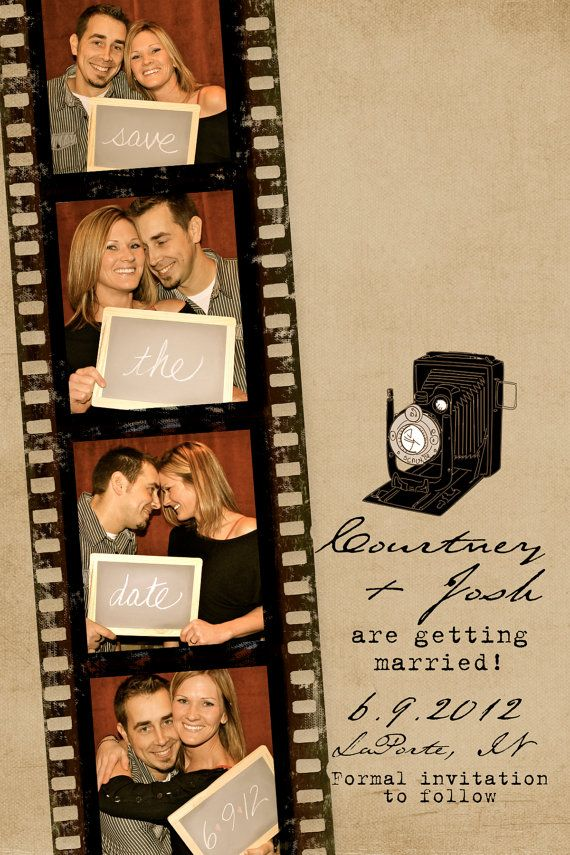 Film Strip: Film Strip Photo Booth Save The Date Cards By