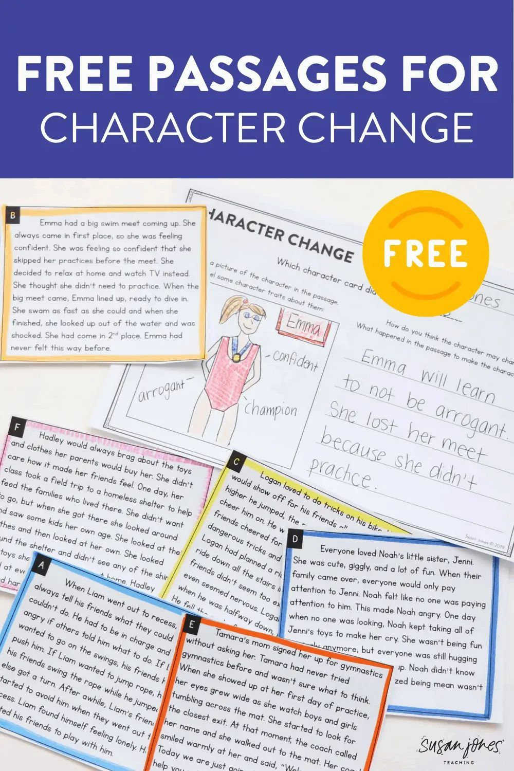 Character Change Cards For First And Second Grade Susan Jones In 2021 First Grade Activities Guided Reading Lessons Character Change [ 1500 x 1000 Pixel ]