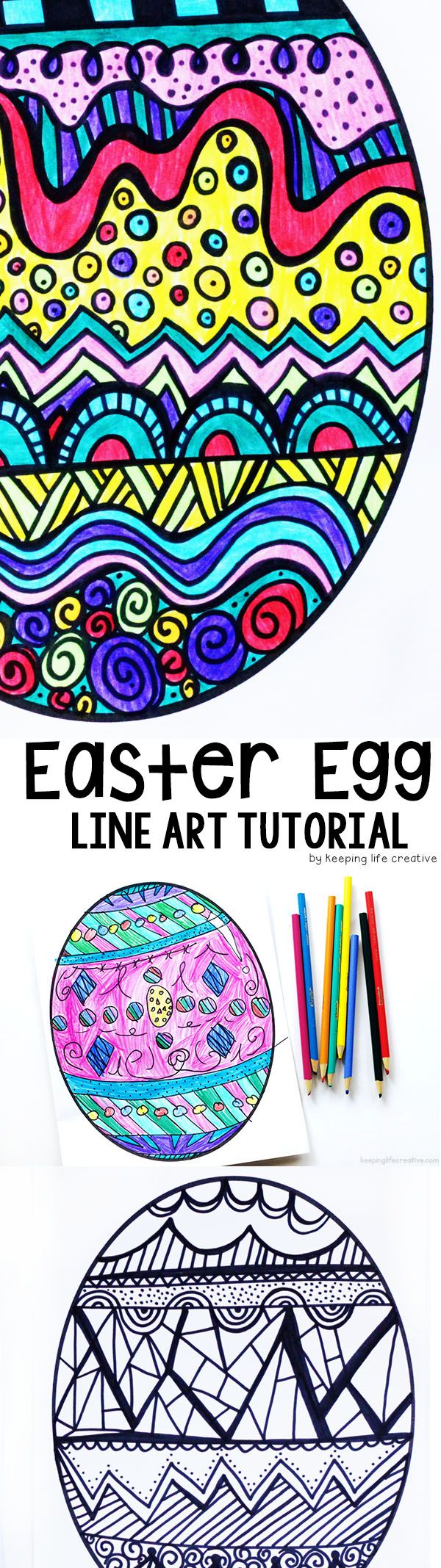 Learn about a non-traditional Easter story, and then create stunning Easter Egg line art inspired by the illustrations in Rechenka's Eggs by Patricia Polacco.