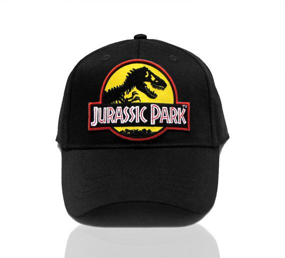 9fa5cbb24 Jurassic Park Movie Logo Yellow Patch Baseball Adjustable by TYGP ...