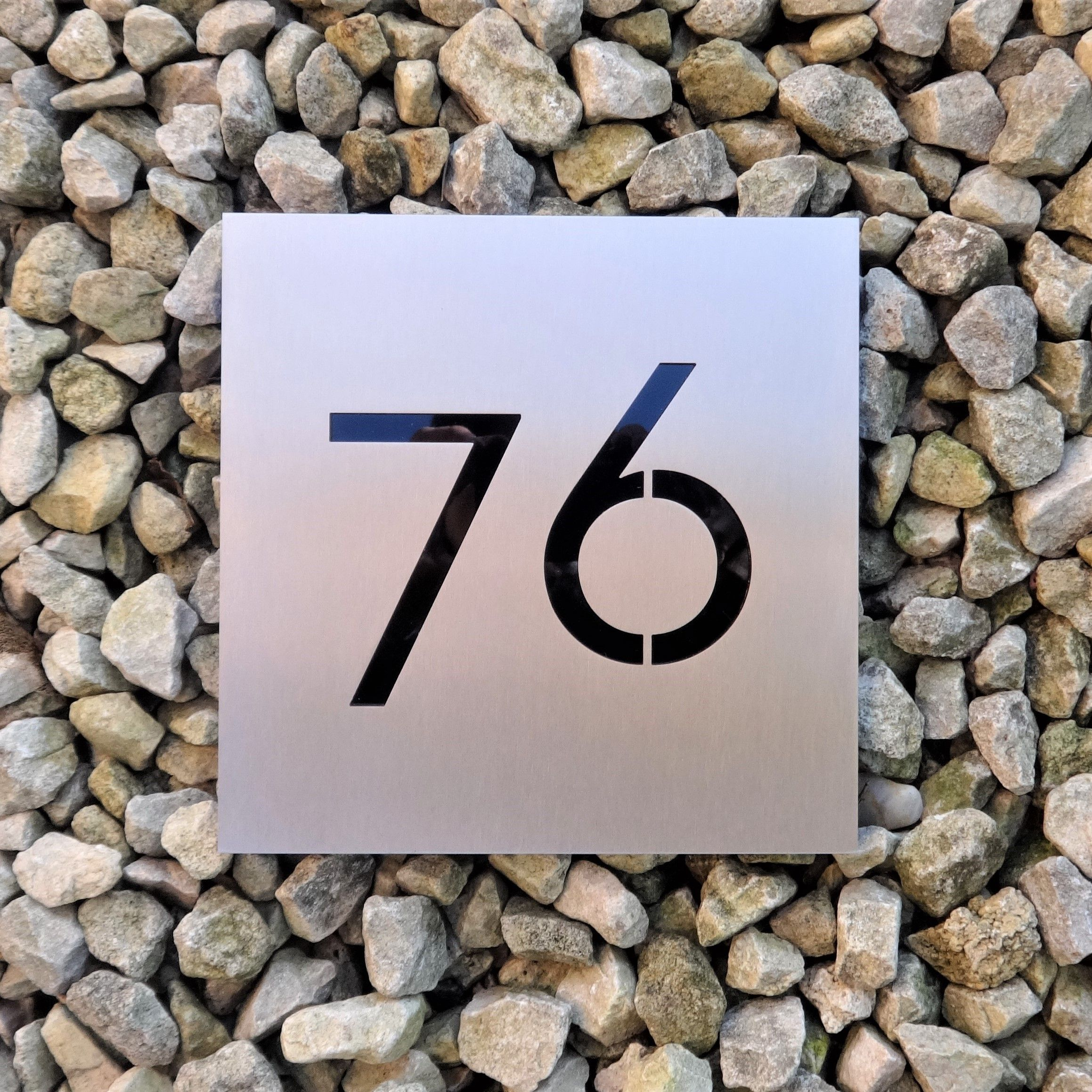 Beautiful and unusual house number plaques laser cut in stainless beautiful and unusual house number plaques laser cut in stainless steel like a stencil and then dailygadgetfo Gallery