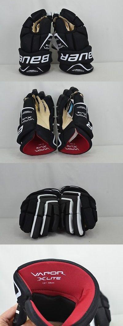 b939c48889b Gloves 20853  Bauer Vapor X Lite Ice Hockey Gloves Senior Size 15 Black  White