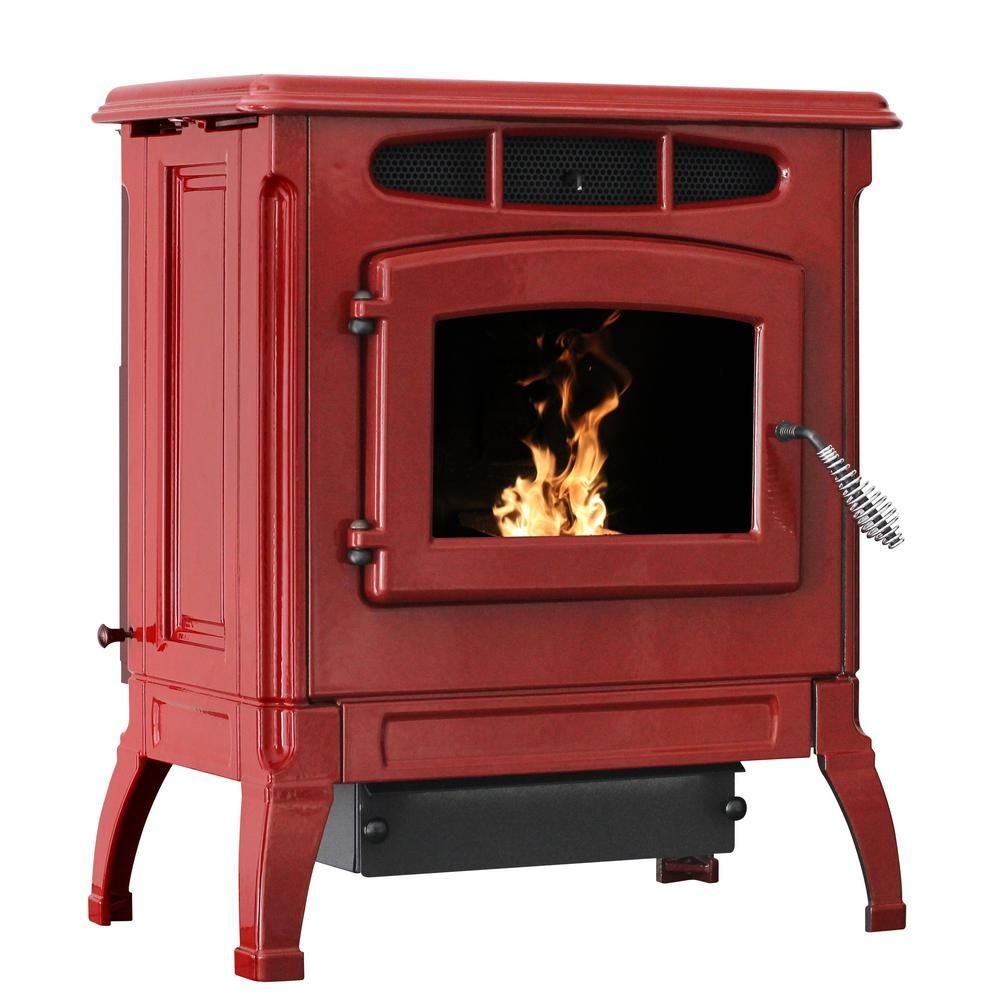 Ashley Hearth Products 2 000 Sq Ft Epa Certified Cast Iron Pellet Stove Red Enameled Porcelain With 40 Lbs Hopper Apc4000r The Home Depot In 2020 Pellet Stove Wood Pellet Stoves Wood