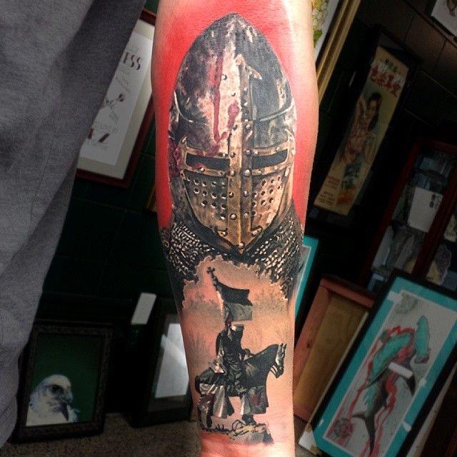 Added This To The #templar Sleeve! @tattooistartmag