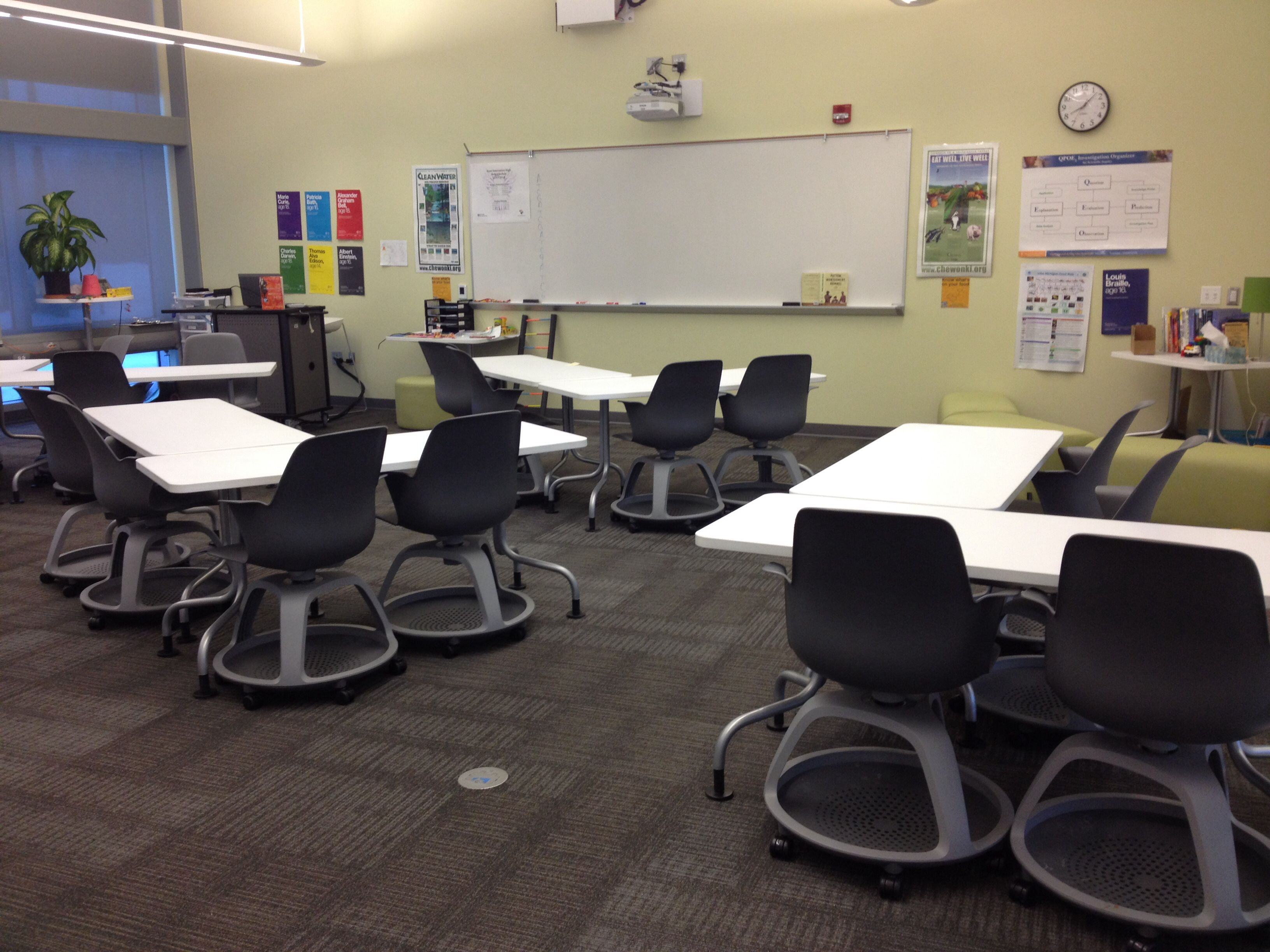 Classroom Design For High School ~ Kent innovation high school classroom seating
