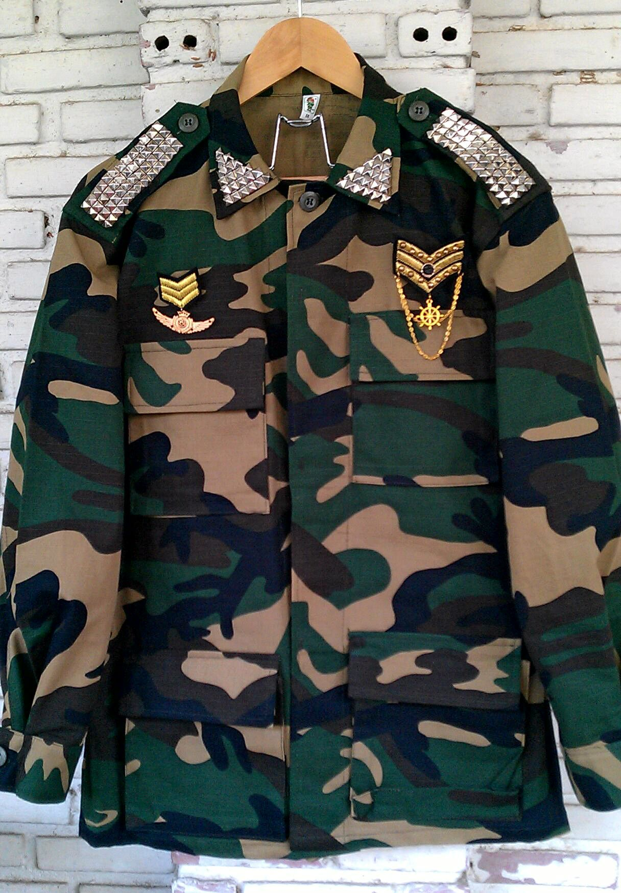 56c081239 Spring Camo Jacket / Reworked Military Camouflage Jacket with ...