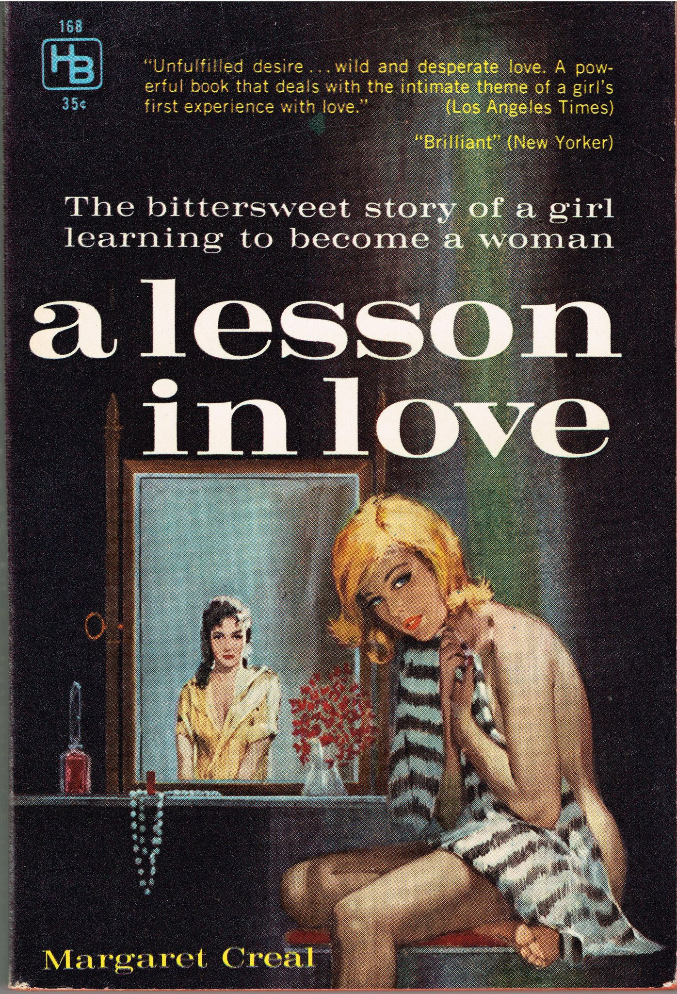 https://flic.kr/p/BcF1oV | a lesson in love | Hillman Book 168 (1960)  Margaret Creal Cover artist unknown  The story of a young woman`s growing up in a boarding school for girls in Manitoba.