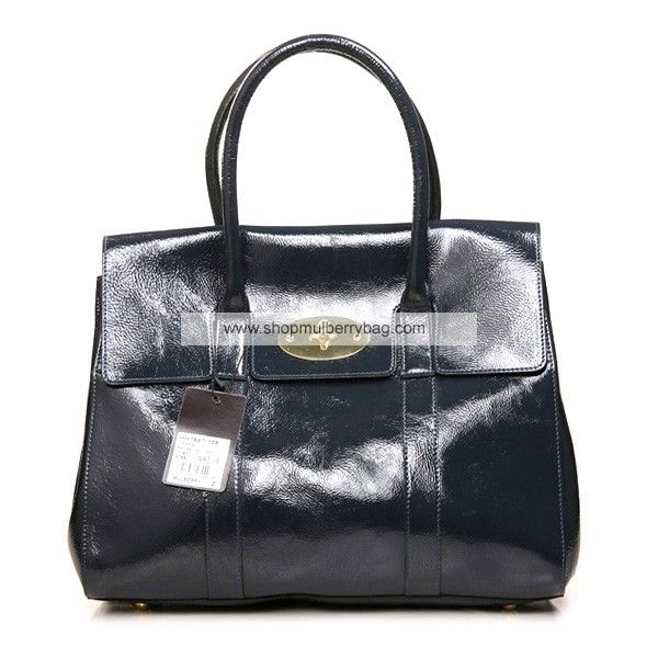 556a782242 Mulberry Women s Bayswater Shining Leather Bag Dark Gray