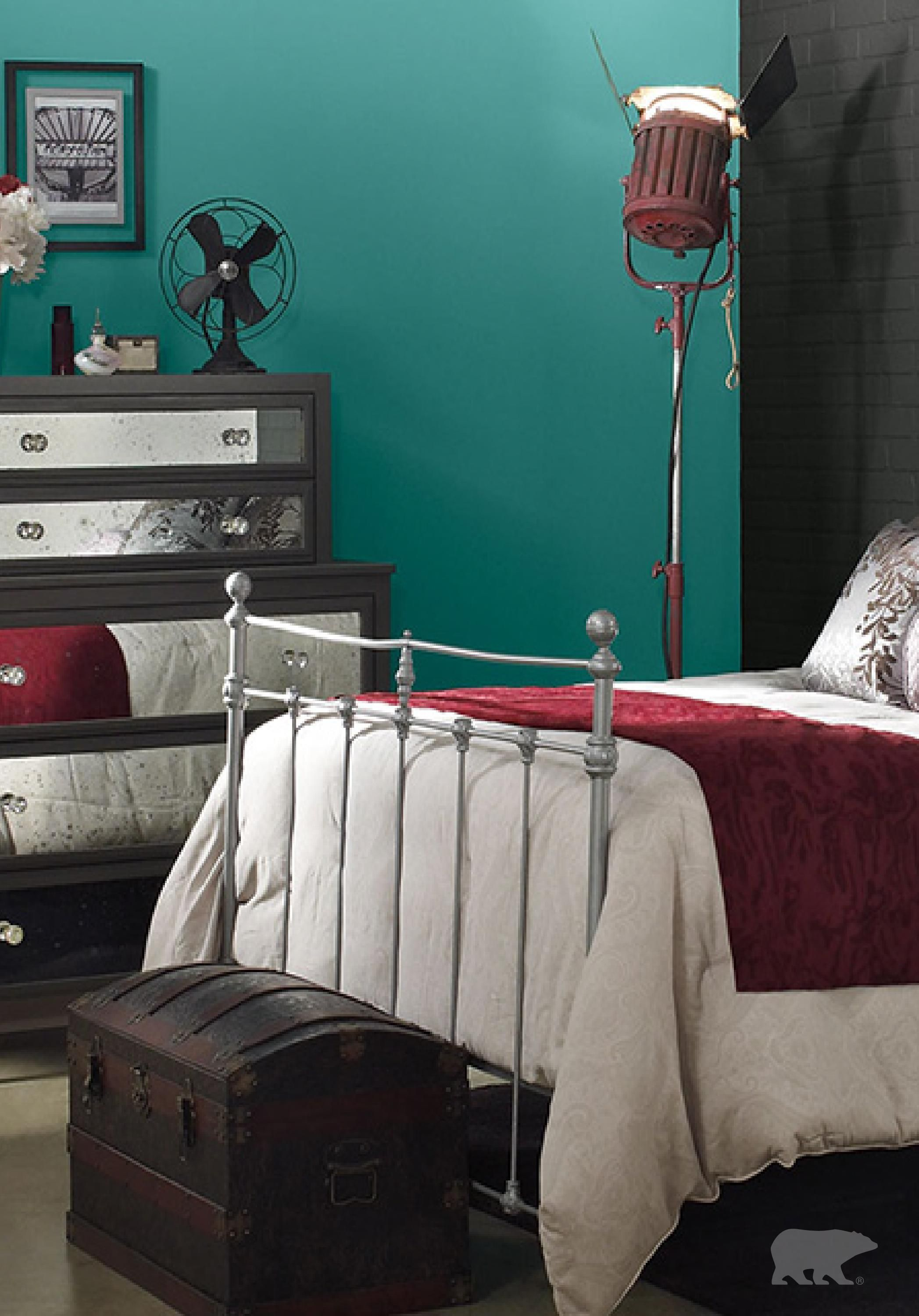 Nothing Adds A Sophisticated Spin To A Space Quite Like A Jewel Toned Teal.  When Itu0027s Combined With Rich Maroon And Mirrored Furniture Accents, Your  Bedroom ...