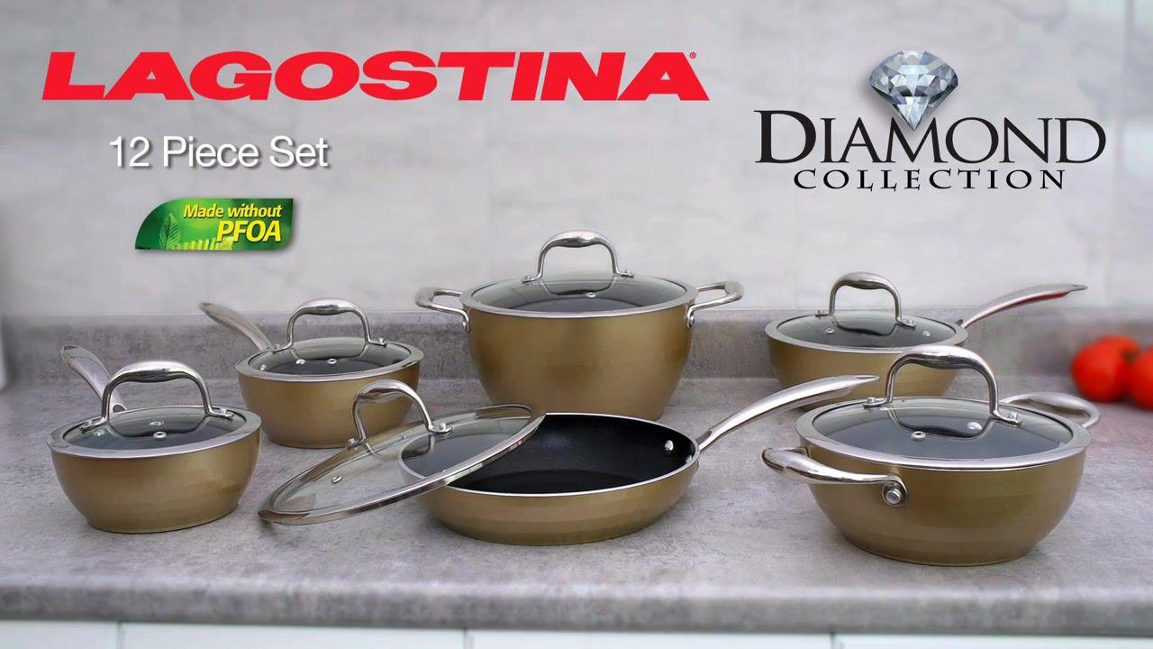 Lagostina Diamond Collection Cookset 12 Pc