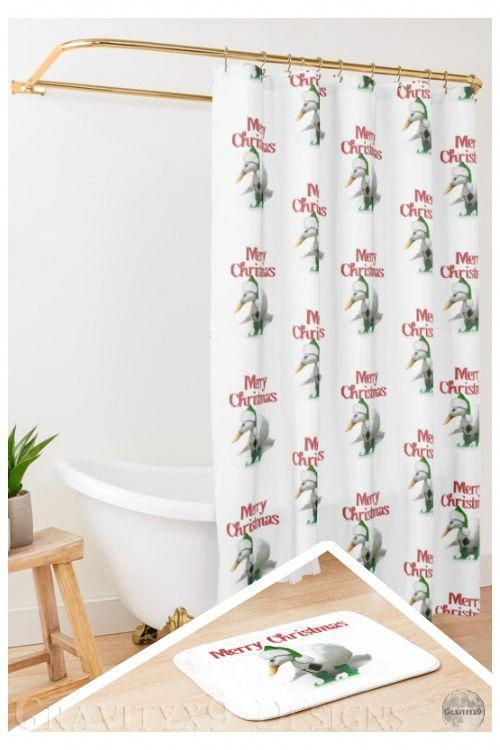* #ChristmasDecor * Web Footed Elf - Santa's Little Helper * #BathroomDecor * designed by #Gravityx9 * Shower Curtain and Matching Bath Mat, each sold separately at #Redbubble * Bath mat is available in two size options. Printed foam with non-slip bottom * Bathroom decor ideas * shower room decor ideas * #Showercurtain #bathcurtain #bathtubcurtain #bathtubmat #bathroomdecor #bathroom #bathmat #bathroommat #floorrug #bathrug  #duck #elf #santashelper #ilove #christmasbathroomdecor