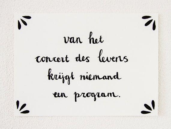 Handdrawn Postcard Van Het Concert Des Levens Krijgt