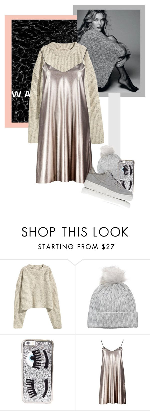 """Untitled #1993"" by katerina-rampota ❤ liked on Polyvore featuring Badgley Mischka, Chiara Ferragni, Boohoo and NIKE"