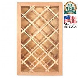 wine rack 18 x 30 unfinished alder kitchen cabinet for the home rh pinterest com au
