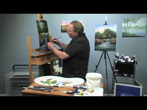 Paint-Along: How to Paint a Waterfall in Oils, Part 3 - YouTube