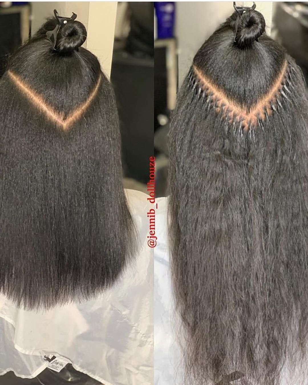 We Started To Become Obsessed With Microlinks Jennib Dollhouze Naturalhairstyles Silkpres Black Hair Extensions Microlink Hair Extensions Fusion Hair