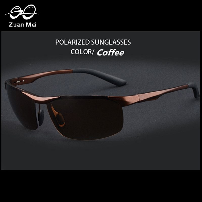 7eaaa134914 Zuan Mei Aluminum Polarized Mens Sports Sunglasses Mirror Sun Glasses For Men  Driving Outdoor Glasses Men