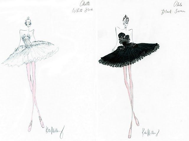Marchesa sketches for Black Swan tutus. (With images) | Black swan ...
