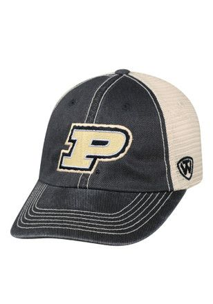 6a8b3500f0d Top of the World Purdue Boilermakers Mens Black Vintage Mesh Adjustable Hat