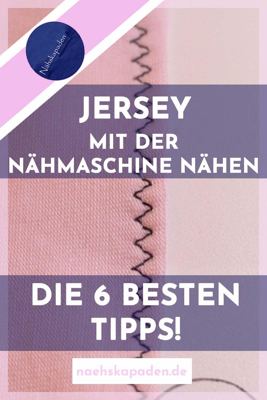 Jersey mit der Nähmaschine nähen #keinekleidungnähen
