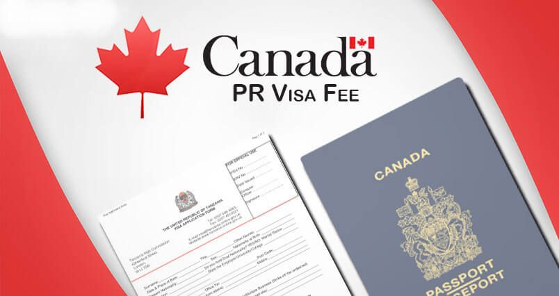 Complete process fees for Canada pr. Canada is the most
