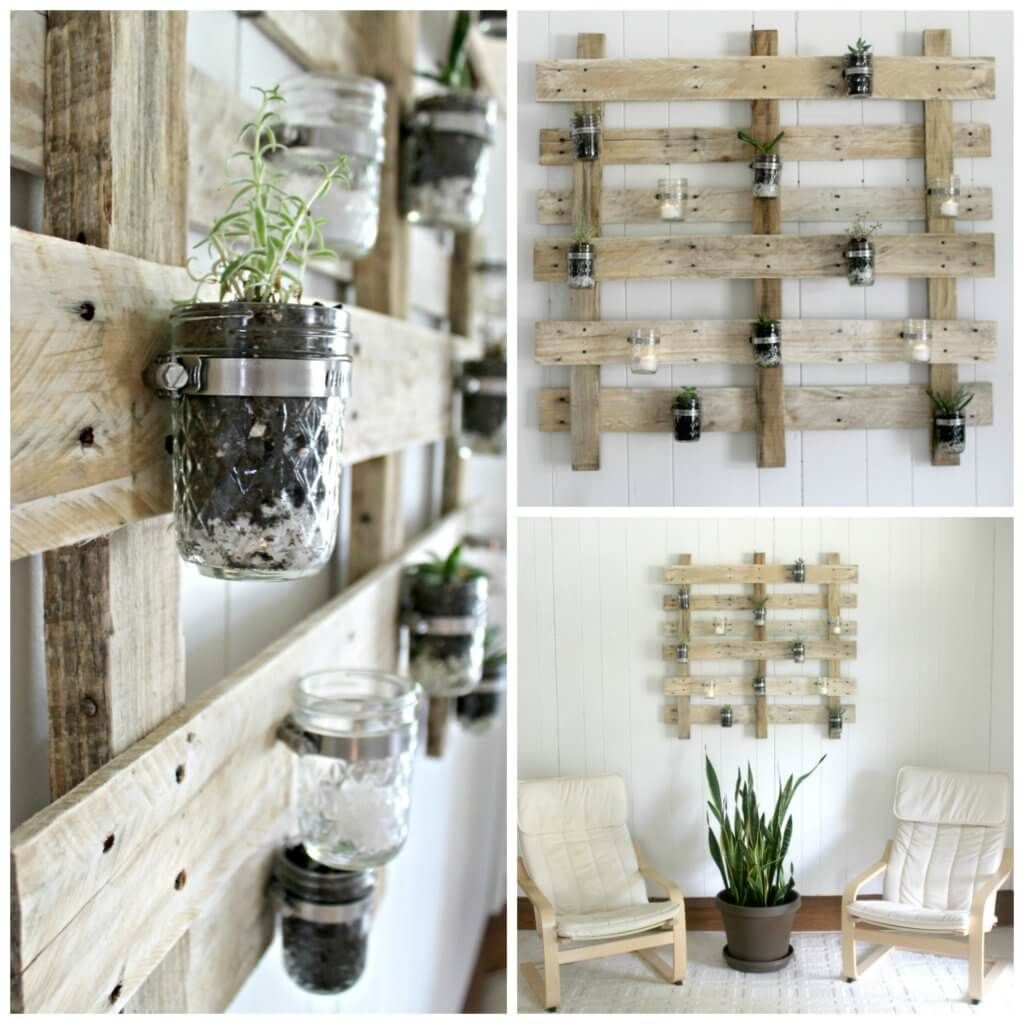 diy pallet wall succulent planter succulent wall planter on pallet wall id=25772