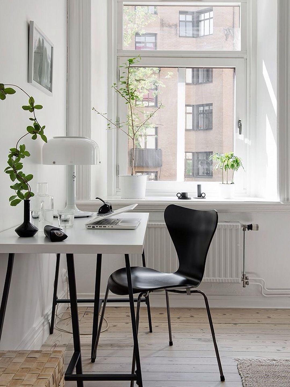 Perfect Scandinavian Minimalist Home Office UK | @styleminimalism