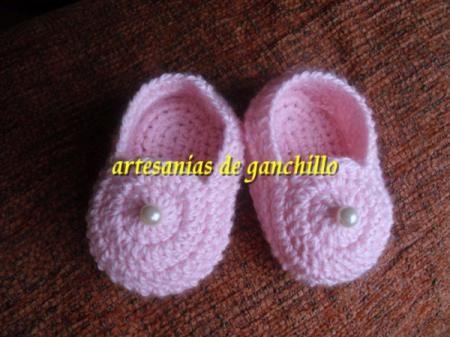 zapatitos crochet zapatitos bebe ganchillo algodon hecho a mano a ...