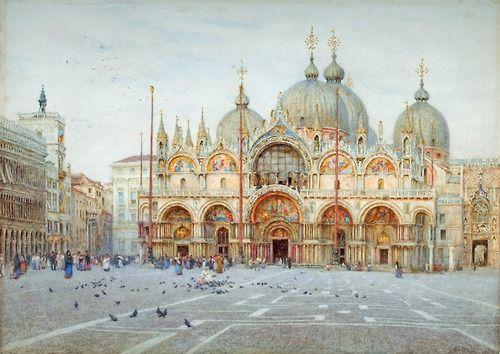 St Mark's, Venice - Helen Allingham, 1921