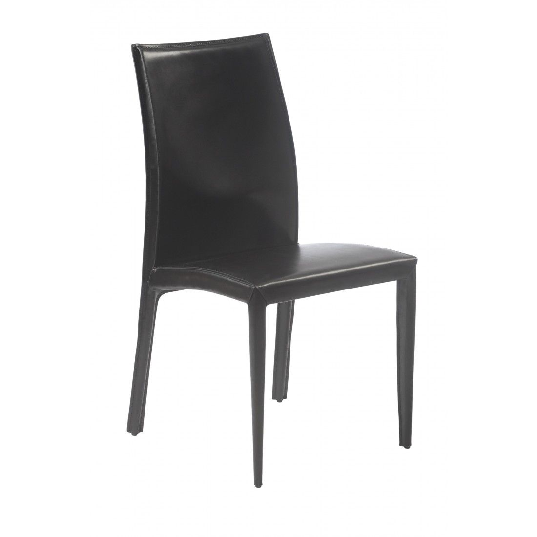Dafney Side Chair (Set Of 2) - Black Leather http://www.franceandson.com/dafney-side-chair-set-of-2-black-leather.html