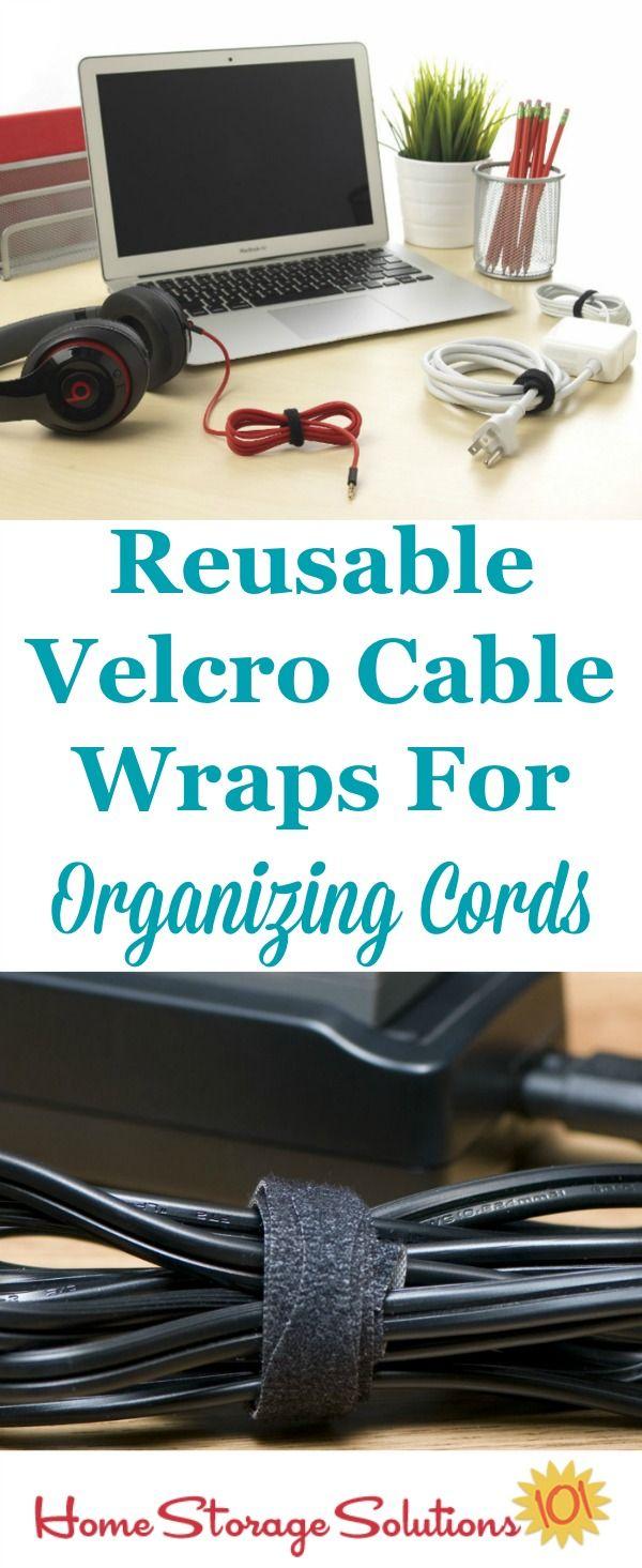Cable & Cord Storage Ideas & Organization Tips | Organize cords ...