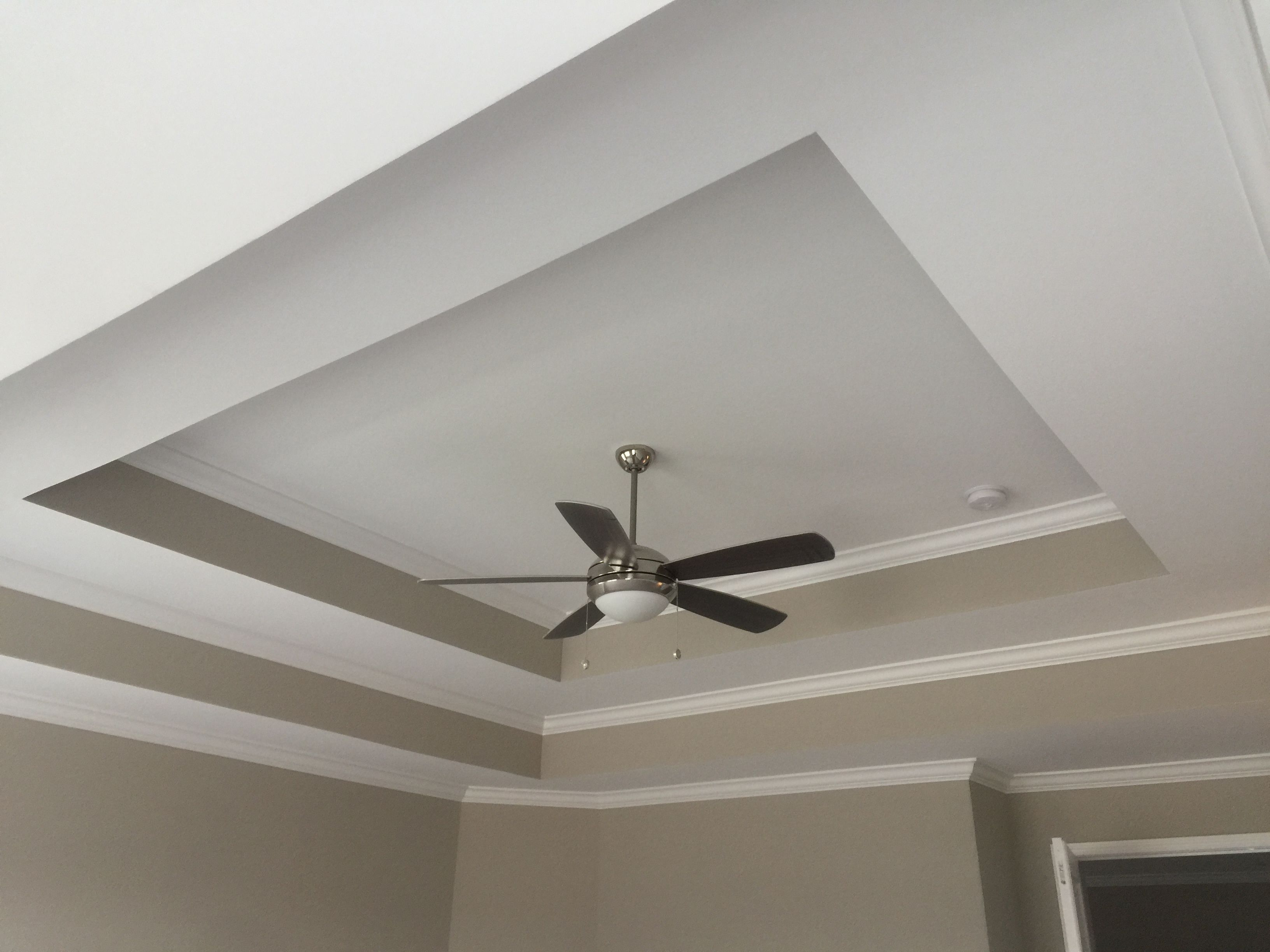 Double Tray Ceiling With Painted Returns Tray Ceiling Ceiling Ceiling Fan