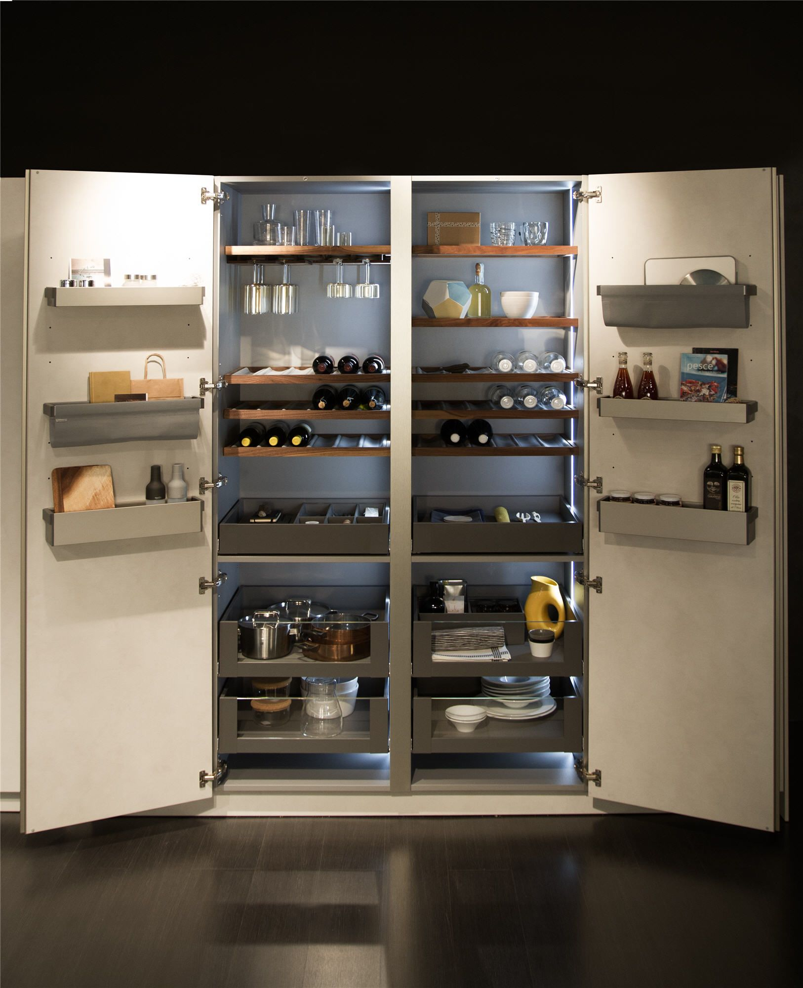Dispensa Cucina Snaidero Snaidero Accessories Such As Kitchen Pull Out Cabinets Functional