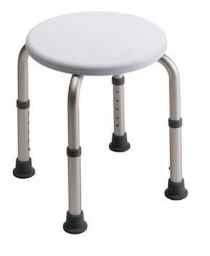 This round shower stool is ideal for smaller tubs or showers stalls ...