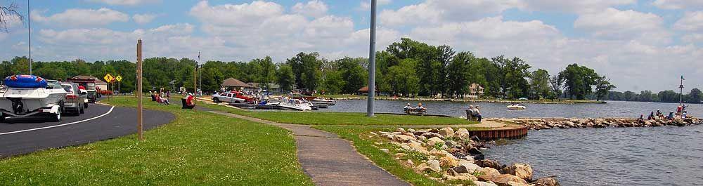 Buckeye lake ohio across the lake from fairfield beach