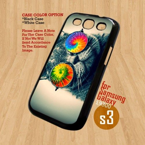 Cat Eyes Glasses Tie Dye- For Samsung Galaxy S3 i9300 Case Cover