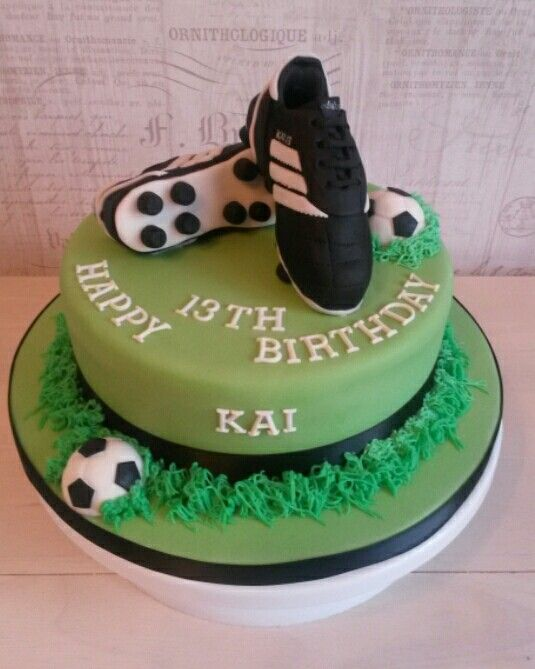 How To Make A Football Boot Birthday Cake