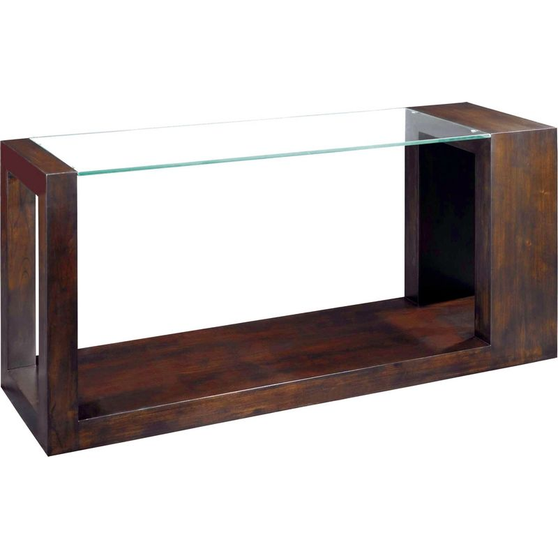 Dado Rectangular Glass Top Console Table in Espresso @ http://www.dynamichomedecor.com/Allan-Copley-30503-03.html