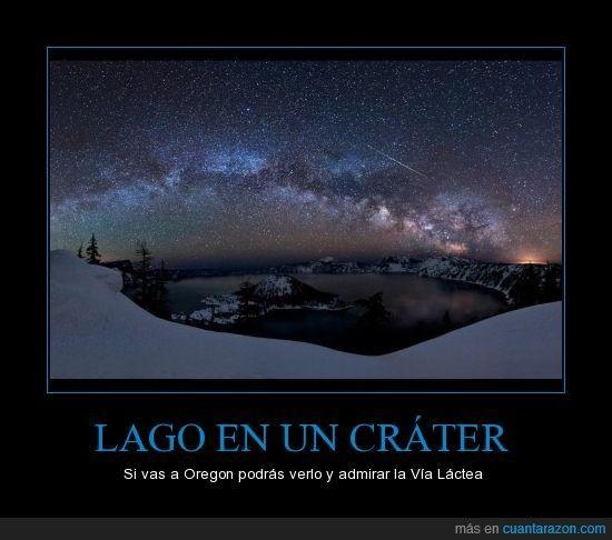 LAGO EN UN CRÁTER - Si vas a Oregon podrás verlo y admirar la Vía Láctea
