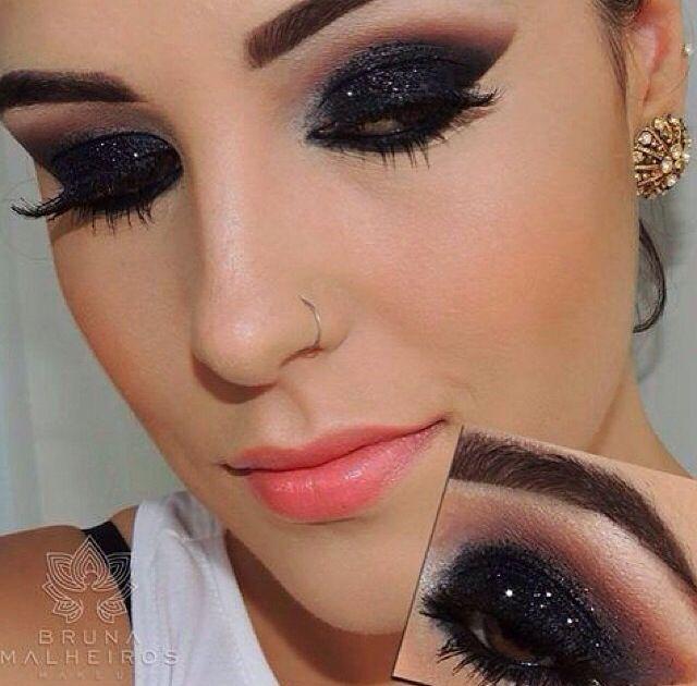 10 Ideias de maquiagem de olhos com sombra preta